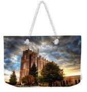 Logan Temple Cloud Backdrop Weekender Tote Bag