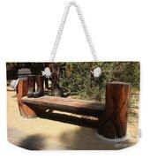 Logger Bench In Oregon Weekender Tote Bag