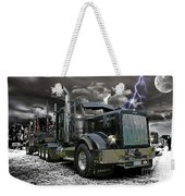 Logger On A Stormy Night Weekender Tote Bag