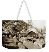 Logging With Oxen At A Saw Mill Sonoma County California Circa 1900 Weekender Tote Bag
