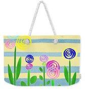 Lollipop Flower Bed Weekender Tote Bag