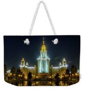 Lomonosov Moscow State University At Night Weekender Tote Bag by Alexey Kljatov