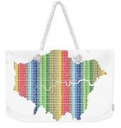 London Boroughs Map - Rainbow Weekender Tote Bag
