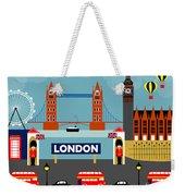 London England Horizontal Scene - Collage Weekender Tote Bag