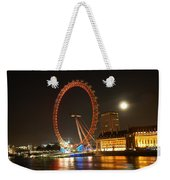 London Eye At Night Weekender Tote Bag