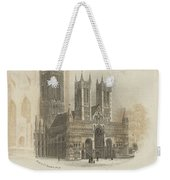 London Lincoln Cathedral. Weekender Tote Bag