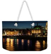 London Night Magic - Colorful Reflections On The Thames River Weekender Tote Bag