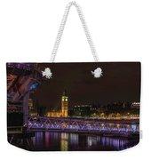 London Nights Weekender Tote Bag