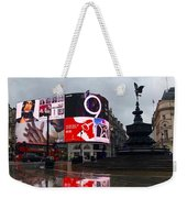 London Piccadilly On A Rainy Day Weekender Tote Bag