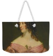 London Portrait Of A Lady In Pink Weekender Tote Bag