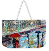 London Rainy Evening Weekender Tote Bag