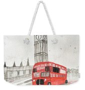 London Red Bus Weekender Tote Bag
