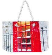 London Red Telephone Booth  Weekender Tote Bag