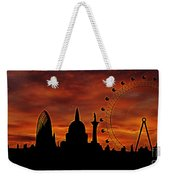London Skyline At Dusk Weekender Tote Bag