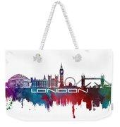 London Skyline City Blue Weekender Tote Bag