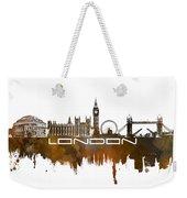 London Skyline City Brown Weekender Tote Bag