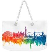 London Skyline City Color Weekender Tote Bag
