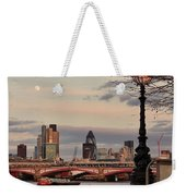 London Skyline From The South Bank Weekender Tote Bag