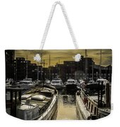 London. St. Katherine Dock. Into The Sun. Weekender Tote Bag