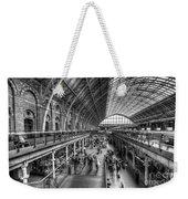 London St Pancras Station Bw Weekender Tote Bag
