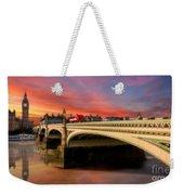 London Sunset Weekender Tote Bag