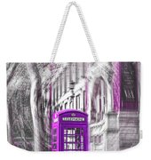 London Telephone Purple Weekender Tote Bag