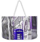 London Telephone Purple Blue Weekender Tote Bag
