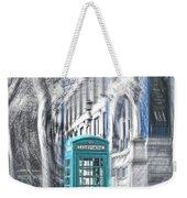 London Telephone Turquoise Weekender Tote Bag