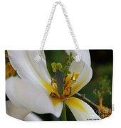 London White Tulip Weekender Tote Bag