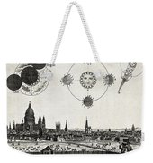 London With Eclipse Diagram, 1748 Weekender Tote Bag