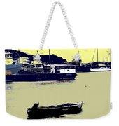 Lone Boat  Weekender Tote Bag