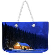 Lone Cabin In The Rockies Weekender Tote Bag