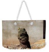 Lone Cactus In Sepia Tone Weekender Tote Bag