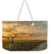Lone Cedar Dock Sunset - Dewees Island Weekender Tote Bag