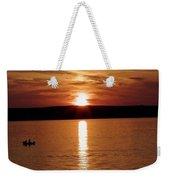 Lone Fisherman At Sunset Weekender Tote Bag