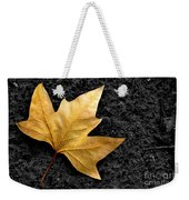 Lone Leaf Weekender Tote Bag by Carlos Caetano