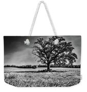 Lone Oak Tree In Black And White Weekender Tote Bag