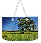 Lone Oak Tree In Wisconsin Field Weekender Tote Bag