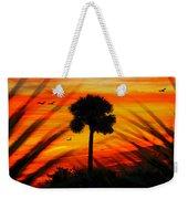 Lone Palm Florida Weekender Tote Bag