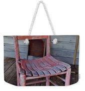 Lone Red Chair Weekender Tote Bag
