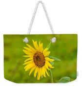 Lone Sunflower Weekender Tote Bag