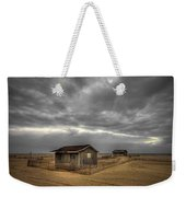 Lonely Beach Shacks Weekender Tote Bag by Evelina Kremsdorf