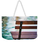 Lonely Bench Weekender Tote Bag