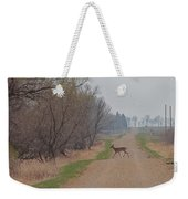 Lonely Deer Crossing Weekender Tote Bag