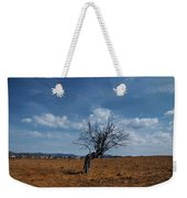 Lonely Dry Tree In A Field Weekender Tote Bag