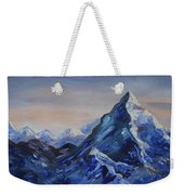 Lonely Mountain Cliff Weekender Tote Bag