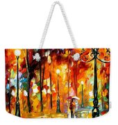 Lonely Night 3 - Palette Knife Oil Painting On Canvas By Leonid Afremov Weekender Tote Bag