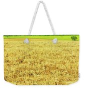 Lonely Tree And Stubble Filed Weekender Tote Bag