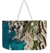 Long And Twisted Walk To The Shore - Azure Magic Of Capri Weekender Tote Bag