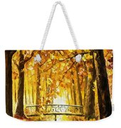 Long Before Winter - Palette Knife Oil Painting On Canvas By Leonid Afremov Weekender Tote Bag